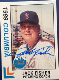 Jack Fisher Autographed 1989 Best Columbia Mets #23