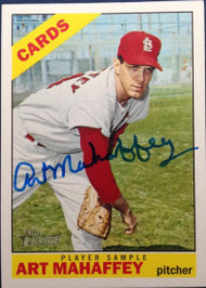 Art Mahaffey Autographed 2015 Topps Heritage 1966 Reprint Player Sample #ROA-AM
