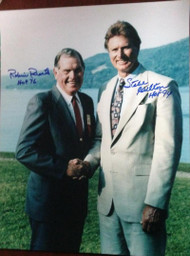 Steve Carlton and Robin Roberts Autographed 11 x 14 Photo