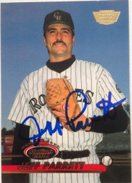 Jeff Parrett Autographed 1993 Stadium Club Members Only #414
