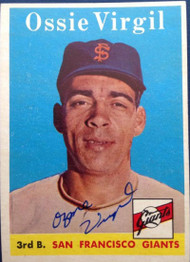 Ozzie Virgil Autographed 1958 Topps #107