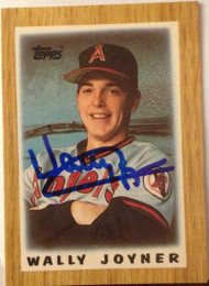 Wally Joyner Autographed 1987 Topps Mini Leaders #45