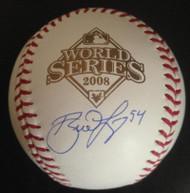 Brad Lidge Autographed 2008 World Series Baseball