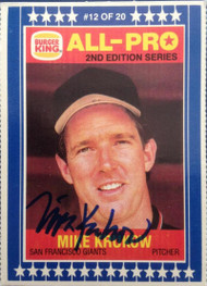 Mike Krukow Autographed 1987 Burger King All Pro #12