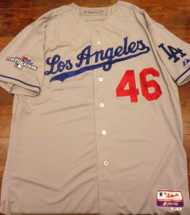 Ken Howell Autographed 2013 Post Season Los Angeles Dodgers Away Game Used Jersey
