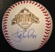 Greg Dobbs Autographed 2008 World Series Baseball
