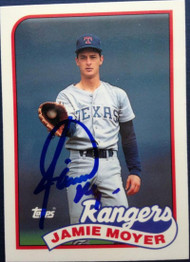 Jamie Moyer Autographed 1989 Topps Traded Tiffany #85T
