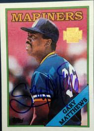 Gary Matthews Autographed 2001 Topps Archives #179