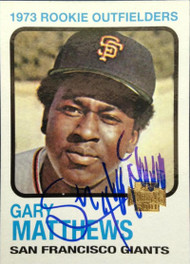 Gary Matthews Autographed 2001 Topps Archives #70