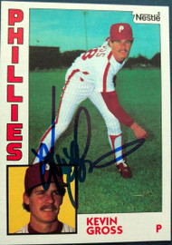 Kevin Gross Autographed 1984 Nestle #332
