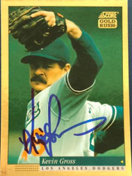Kevin Gross Autographed 1994 Score Gold Rush #530