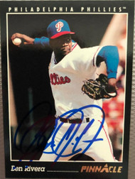 Ben Rivera Autographed 1993 Pinnacle #437