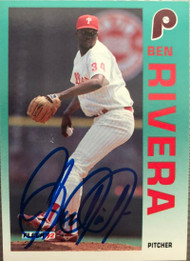 Ben Rivera Autographed 1992 Fleer Update #U-111
