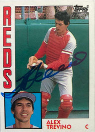 Alex Trevino Autographed 1984 Topps #242