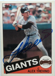 Alex Trevino Autographed 1985 Topps Traded #123T