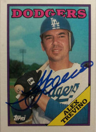 Alex Trevino Autographed 1988 Topps #512