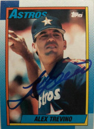 Alex Trevino Autographed 1990 Topps #342
