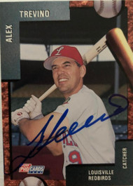 Alex Trevino Autographed 1992 Louisville Redbirds Fleer Pro Cards #1891