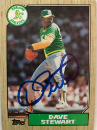 Dave Stewart Autographed 1987 Topps #14