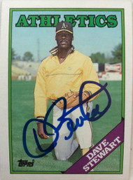 Dave Stewart Autographed 1988 Topps #476