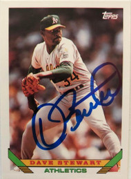 Dave Stewart Autographed 1993 Topps #290