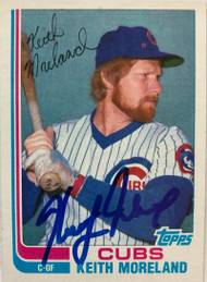Keith Moreland Autographed 1982 Topps Traded #76T