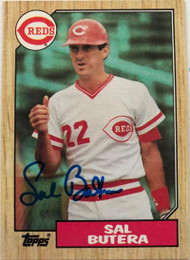 Sal Butera Autographed 1987 Topps #358