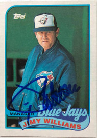 Jimy Williams Autographed 1989 Topps #594 ID: 5467