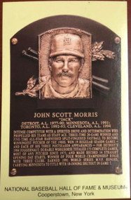 Jack Morris Stamped and Canceled Hall of Fame Gold Plaque Postcard