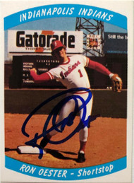 Ron Oester Autographed 1978 Indianapolis Indians #6