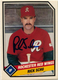 Rick Schu Autographed 1989 Rochester Red Wings CMC #23
