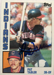 Pat Tabler Autographed 1984 Topps #329