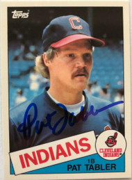 Pat Tabler Autographed 1985 Topps Tiffany #158