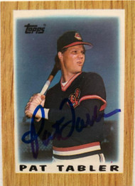 Pat Tabler Autographed 1987 Topps Mini Leaders #52