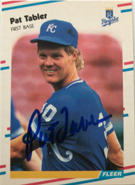 Pat Tabler Autographed 1988 Fleer Update #U-36