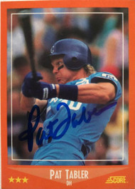 Pat Tabler Autographed 1988 Score Rookie/Traded #22T