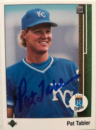 Pat Tabler Autographed 1989 Upper Deck #233