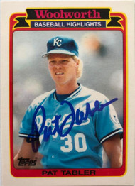 Pat Tabler Autographed 1989 Woolworth Topps #18
