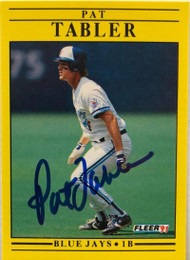 Pat Tabler Autographed 1991 Fleer Update #U-67