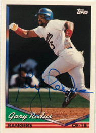 Gary Redus Autographed 1994 Topps #108