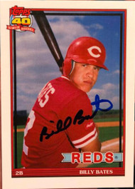 Billy Bates Autographed 1991 Topps Style Custom Card 2 VERY TOUGH SIGNATURE
