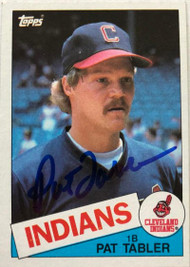 Pat Tabler Autographed 1985 Topps #158