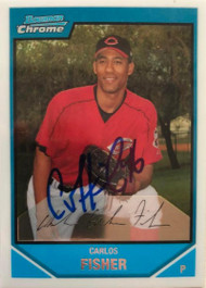 Carlos Fisher Autographed 2007 Bowman Chrome Prospects #BC115