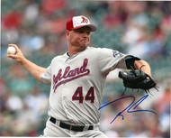 Ryan Madson Autographed A's 8 x 10 Photo 5