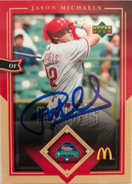 Jason Michaels Autographed 2004 Upper Deck McDonald's Phillies #24
