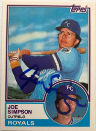Joe Simpson Autographed 1983 Topps Traded #104T
