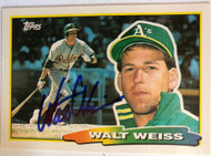 Walt Weiss Autographed 1988 Topps Big #263