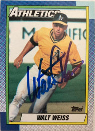Walt Weiss Autographed 1990 Topps #165