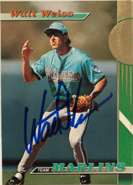Walt Weiss Autographed 1993 Marlins Stadium Club #5