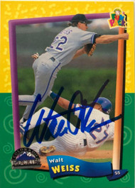 Walt Weiss Autographed 1994 Fun Packs #122